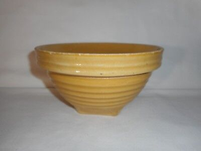 "McCoy ~Primitive (1927-30) Yelloware Old Farmhouse Yellow Ring Mixing Bowl (8"")"