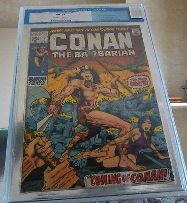 Conan the Barbarian #1 CGC 9.4. 1st App Conan. Barry W. Smith. Old Label