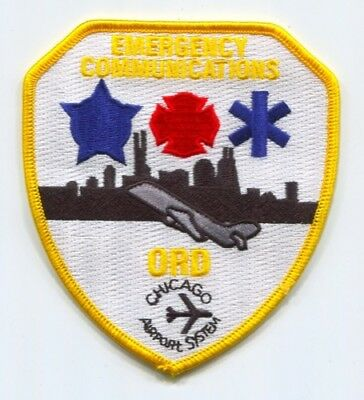 Chicago Airport System Emergency Communications Fire EMS Police Patch Illinois I