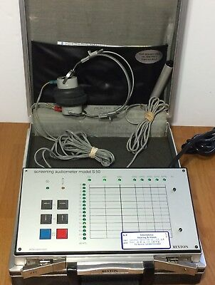 Rexton Screening Audiometer S50 w/ Headphones and Response Button Switch