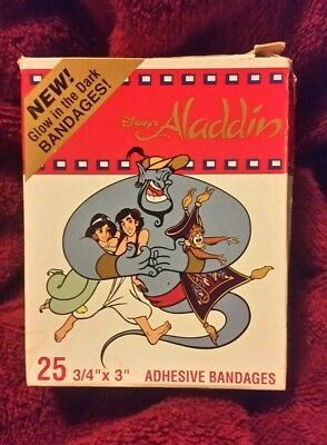 Disney's Aladdin Glow In The Dark Adhesive Bandages 90's Rare find