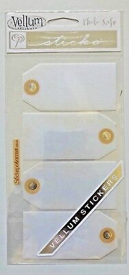 1 Sheet Of Vellum Tag Stickers