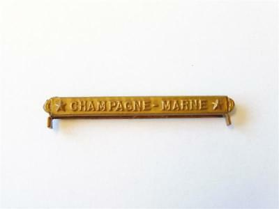 """U.S. WWI, Victory medal service clasp """" Champagne - Marne"""""""