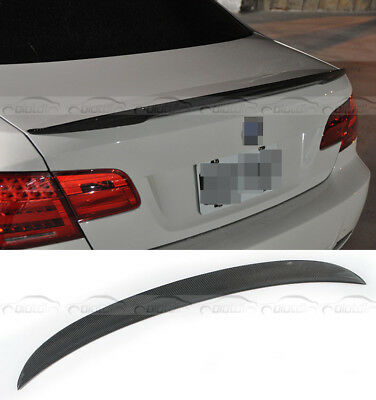 Carbon Fiber Rear Trunk Spoiler Wing P Style Fits For BMW 3 Series E92 M3 07-11