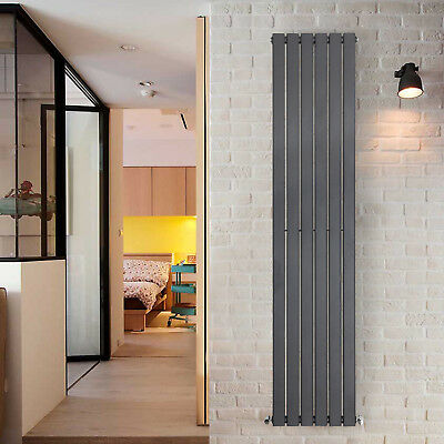 1800x408mm Anthracite Vertical Radiator Tall Upright Bathroom Designer Rads