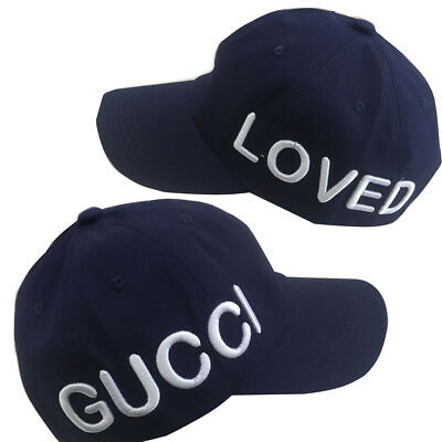 NEW GG LOVED Hat Men Women Adjustable Baseball Cap Navy Blue FREE Shipping e95473ab9ec