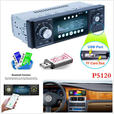 """4.1"""" 1DIN Car In-Dash Digital MP5 Stereo Audio MP3 Player 7 Colorful Touch Key"""
