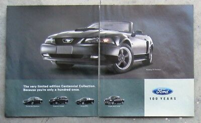 FORD MUSTANG GT TAURUS FOCUS ZTS Auto Magazine Page Sales Advertisement Brochure