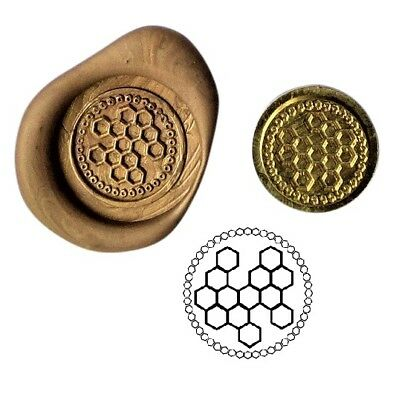 Bees Honeycomb Hive Wax Stamp Seal Starter KIT or Buy Coin Only XWS039B/XWSC022