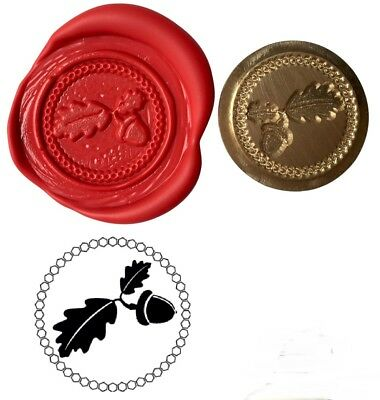 Oak Leaf & Acorn Wax Stamp Seal Starter KIT or Buy Coin Only XWS039B/XWSC026