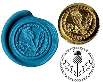 Scottish Thistle Wax Stamp Seal Starter KIT or Buy Coin Design  XWS039B/XWSC067