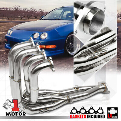 Stainless Steel Stepped Tri-Y Exhaust Header Manifold for 94-01 Integra/Civic Si