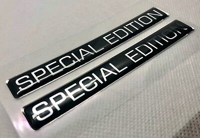 2 pcs. Special Edition badge logo stickers. Domed 3D Stickers/Decals.