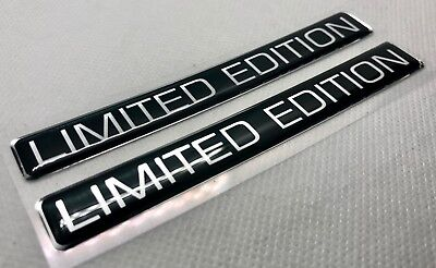 2 pcs. Limited Edition badge logo stickers. Domed 3D Stickers/Decals.