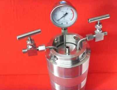 Hydrothermal synthesis Autoclave Reactor vessel + inlet outlet gauge 500ml 6Mpa