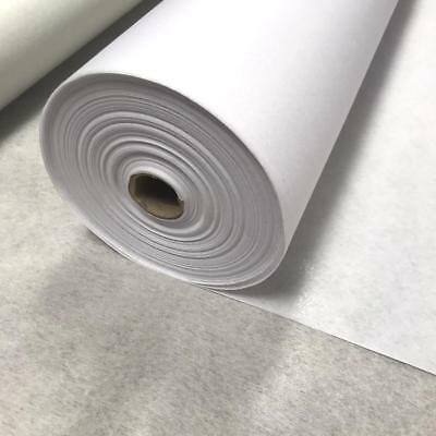 1m White Medium Weight 40 gms Iron On Interfacing Interlining 75cm
