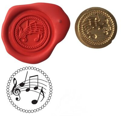 Musicians Music Notes Wax Stamp Seal Starter Kit / Buy Coin Only XWS039B/XWSC234