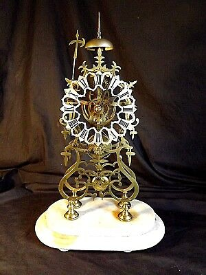 Large Victorian Fusee Skeleton Clock Passing Strike.