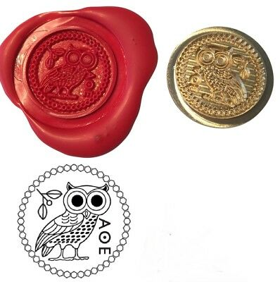 Greek Owl of Athena Wax Stamp Seal Starter Kit or Buy Coin Only XWS039B/XWSC251