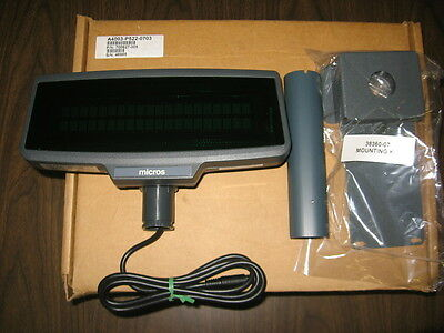 "Micros PCWS Customer Display #700827-005 - 6"" Display Post - Mounting Kit - NEW"