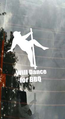 Will Dance for BBQ decal pit boss traeger camp chef