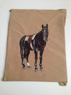 Antique Embroidered Horse Picture on Silk