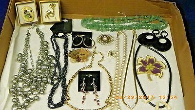 vintage antique jewelry lot/ all good pieces mixed lot of jewelry