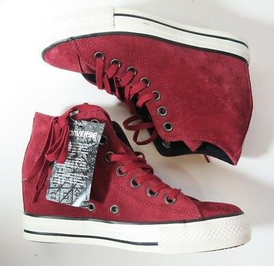 Converse Chuck Taylor All Star CT Lux Mid Hidden Wedge 550671C Suede Dahlia 43567c28a