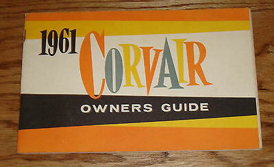 Original 1961 Chevrolet Corvair Owners Operators Manual Guide 61 Chevy
