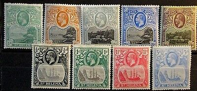 St Helena 1912 & 22 Issues MM.