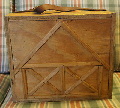 Wooden Handmade Horse Stable Barn Toy Tack Vintage Vermont Made One Of A Kind