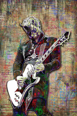 GHOST NAMELESS GHOUL Pop Art Poster, GHOST Tribute Print 8x10in Free Shipping