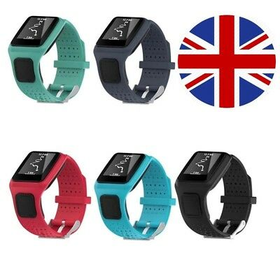 TomTom 1 Runner One Replacement Watch Strap Silicone Band - GPS - Metal Buckle