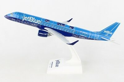 Skymarks SKR960 Jetblue Embraer ERJ-190 Blueprint Desk Top 1/100 Model Airplane