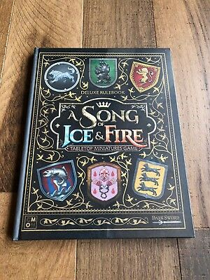 A Song of Ice and Fire ASOIAF Kickstarter Exclusive Deluxe Rulebook GoT