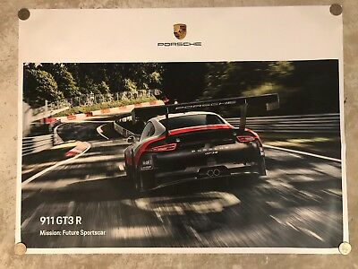2018 Porsche 911 GT3 R Coupe Showroom Advertising Poster RARE!! Awesome L@@K