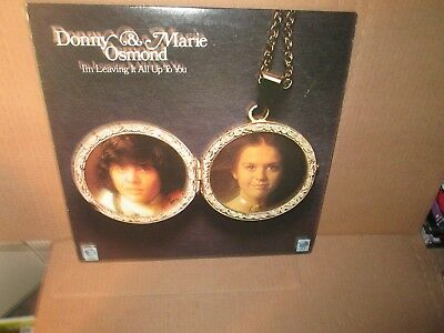 DONNY & MARIE OSMOND - I'M LEAVING IT ALL UP TO YOU rare Vinyl Lp MGM Exc/VG+
