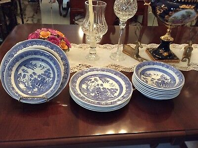 Spode Blue Room Collection Willow Pattern 6 10 5 Dinner Plates 8
