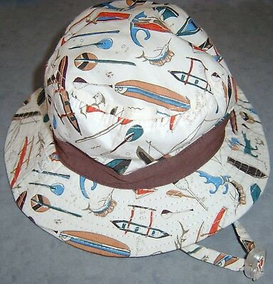 Dozer Baby Boys Summer Hat Sz 44 Cm (Newborn To 12 Months) New Without Tags