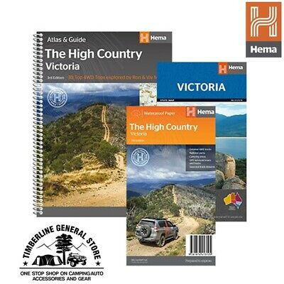 Hema Map Book Victoria High Country Atlas & Map Pack