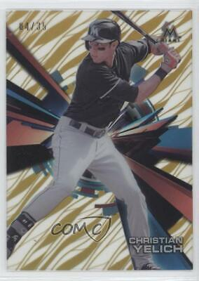 2015 Topps High Tek Pattern 1 Grass/Waves Gold Rainbow/35 Christian Yelich Grass
