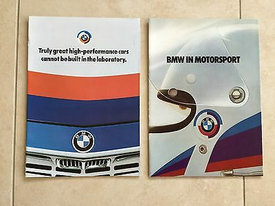 NEW 2 Rare Motorsport M Brochures / Catalogs 1970's. Very Collectible. Vintage.