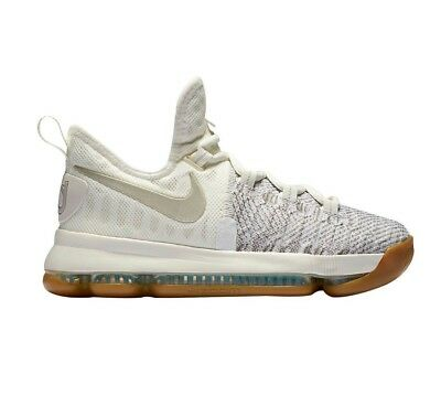 new products 1fa5f 2dbd5 Nike Zoom KD 9 Kevin Durant Pale Grey Ivory Size GS Youth 7Y 855908 098