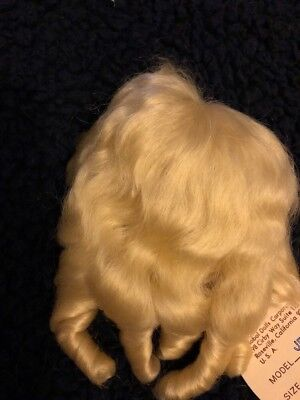 NEW DOLL WIG Size 5-6 Style Jenny Ash Blonde Fine Mohair By Global Dolls