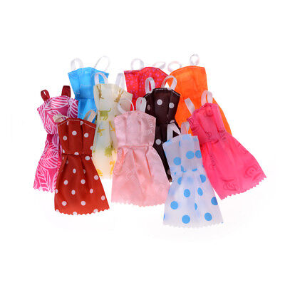 10Pcs/ lot Fashion Party Doll Dress Clothes Gown Clothing For  Doll HU