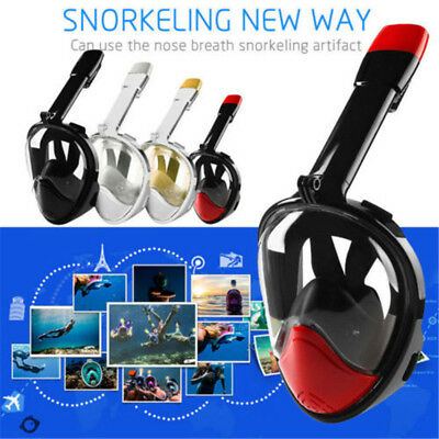 Adult Kids Swimming Full Face Mask Surface Diving Snorkel Scuba For GoPro Swim
