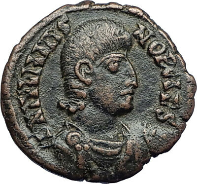JULIAN II as CAESAR Ancient GLADIATOR Style BATTLE SCENE Roman Coin i71021
