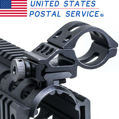 45 Degree Side Offset Scope 30mm Ring Flashlight Mount For Weaver/Picatinny Rail