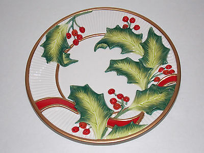 FITZ AND FLOYD ESSENTIALS Canape Plate - NOEL CLASSIQUE - 2004