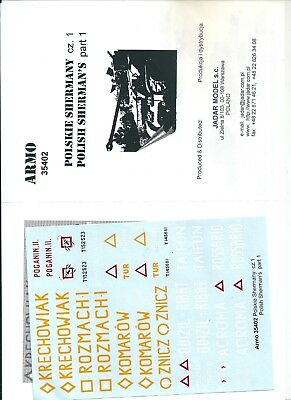 Armo Decals 35402 - Polish Shermans Part 1 - 1/35